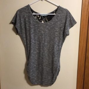 Maurices marled gray short sleeve sweater